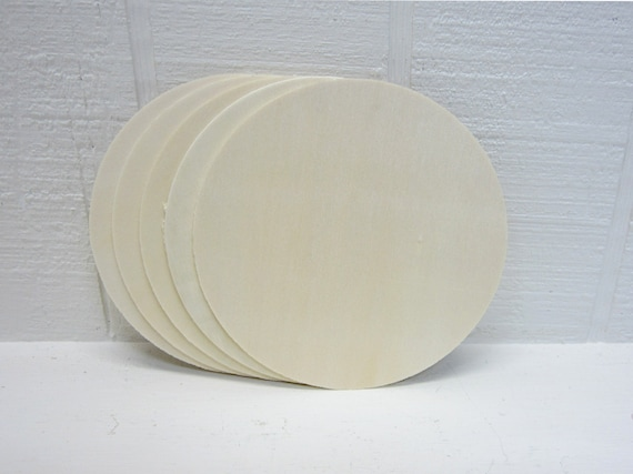 Wooden Circles 4 Inch Unfinished For Signs And Craft Projects Lot Of 5