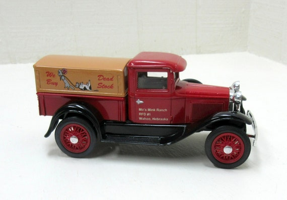 Vintage Liberty Classics 1/25 Scale Dead Stock Removal Model A Ford Pickup Die Cast Bank #1069
