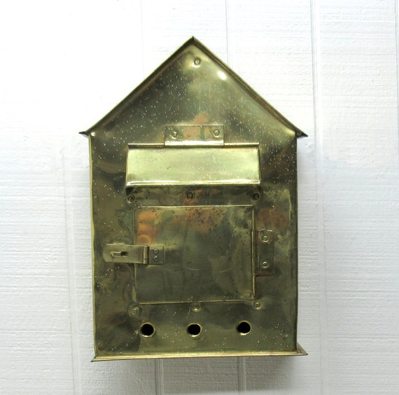Vintage Brass Mail Box