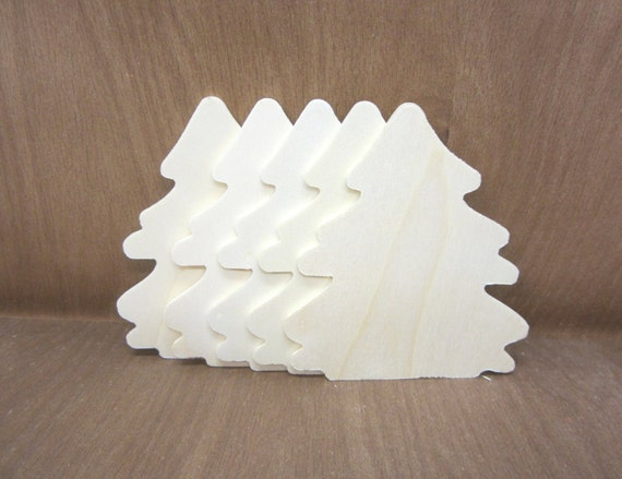 Wooden Christmas Tree Unfinished Lot Of 5