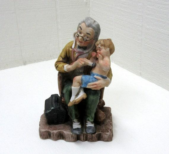 Vintage Geo. Z. Lefton Porcelain Figurine Country Doctor Lefton #GG5687
