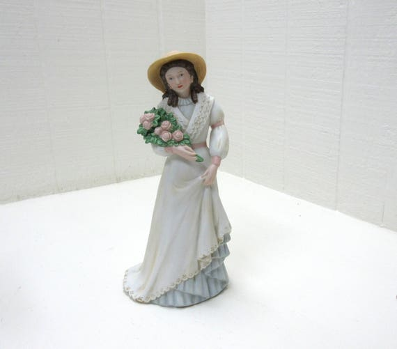 Vintage Homco Victorian Lady Figurine Charlotte Rose 1468