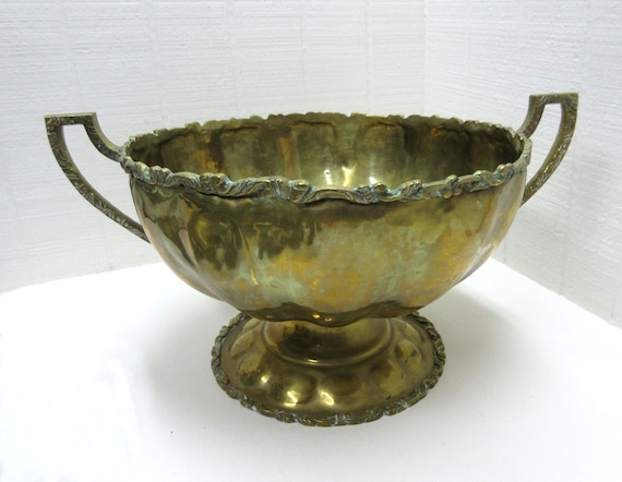 Vintage Copper and Brass A. Lara Punch Bowl