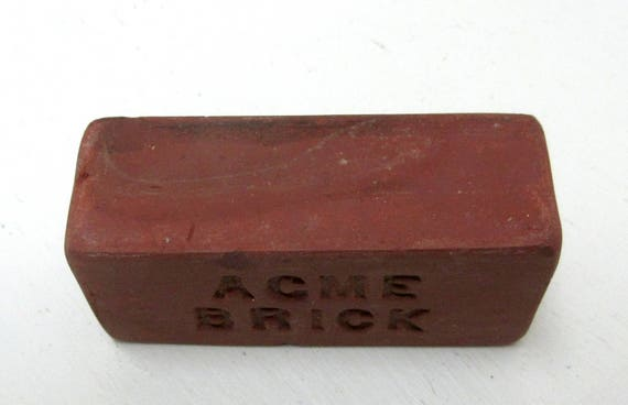 Vintage Miniature Acme Brick Paperweight Salesman Sample Advertising