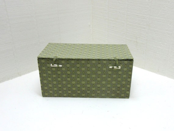 Vintage Fabric Covered Card Stock Box Cloth Covered Card Stock Trinket Box Vintage Fabric Covered Box Boîte Vintage Tissus Recouverts