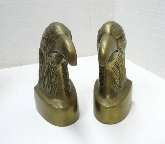 Vintage Bookends Brass Eagle Brass Bald Eagle