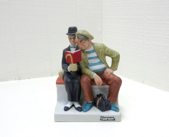 "Vintage Norman Rockwell Danbury Mint Figurine ""THE INTERLOPER"""