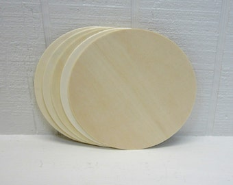 Wooden Circles 6 Inch Unfinished For Signs And Craft Projects Lot Of 5