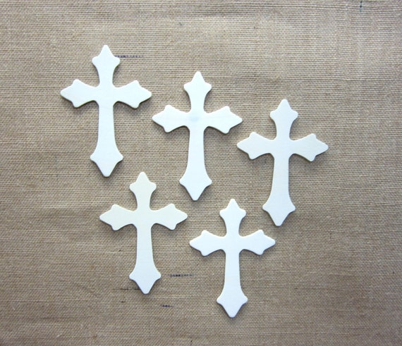 Wooden Cross Cutouts Unfinished Lot Of 5 Spiritual Decor