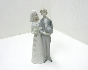 Vintage Wedding Bride and Groom Porcelain Figurine