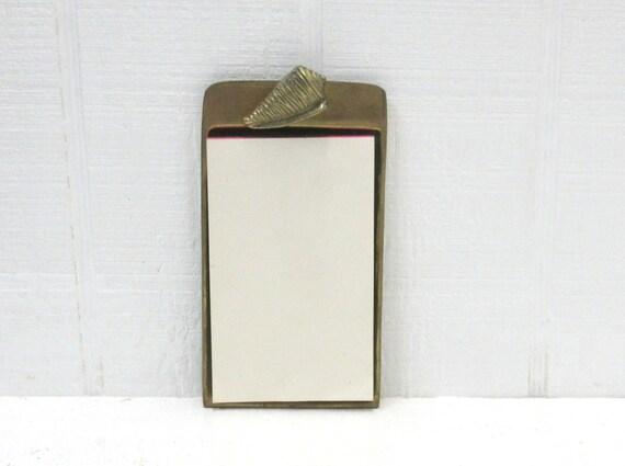 Vintage Brass Note Pad Nautical Brass Seashell Omnibus