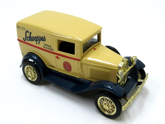 Vintage LIBERTY CLASSICS Ford Model A Van Schweppes Soda Water Advertising