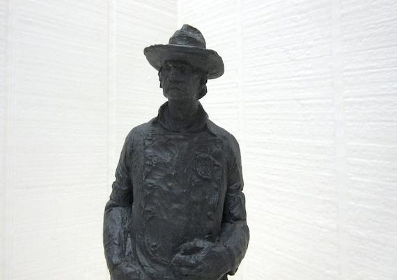 Vintage Michael Garman Sculpture Western Sheriff 1971
