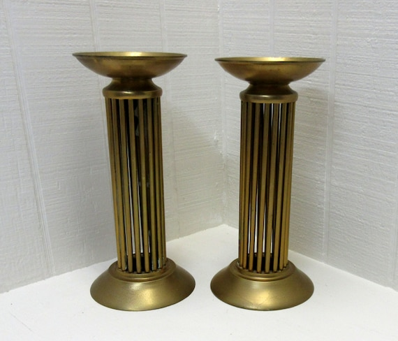 Vintage Brass Candle Holders Lot Of 2