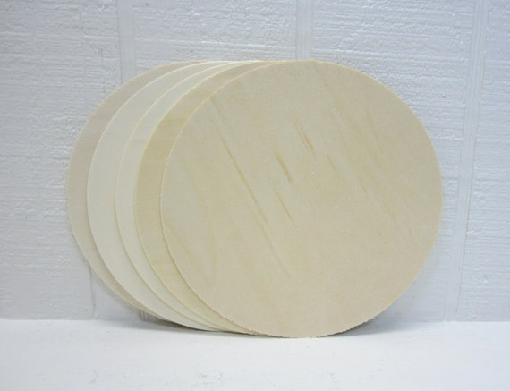 Wooden Circles 6-1/2 Inch Unfinished For Signs And Craft Projects Lot Of 5
