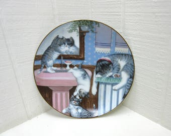 Vintage Country Kittens Mischief Makers Collector's Plate From Hamilton Collection