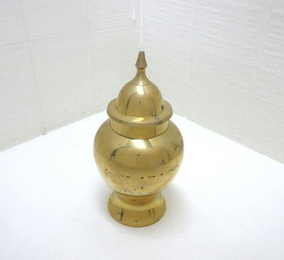 Vintage Brass Ginger Jar Made In India