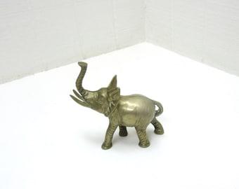 Vintage Small Brass Elephant