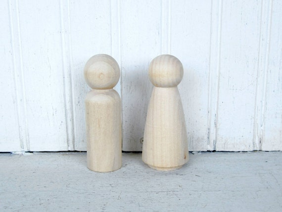New Unfinished Little People For Toys Wedding Cake Toppers DIY Projects Wooden Dolls