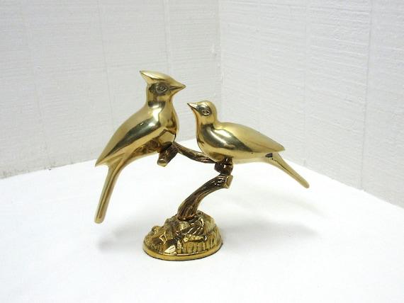 Vintage Brass Birds On A Tree Leonard Silver Mfg Towie Silver Company
