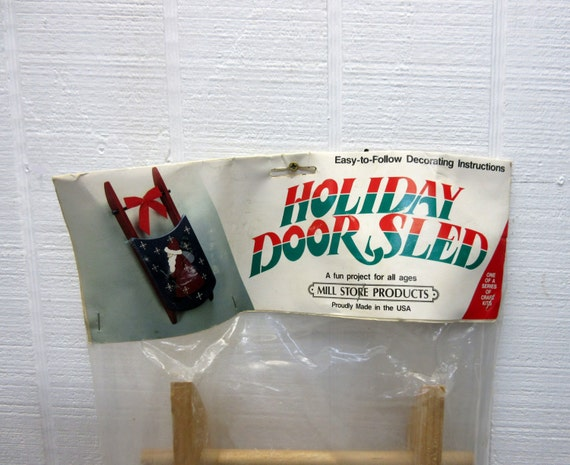 Unfinished Wooden Holiday Door Sled