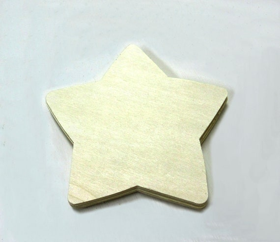 Wooden Star Unfinished For Signs And Craft Projects Lot Of 5