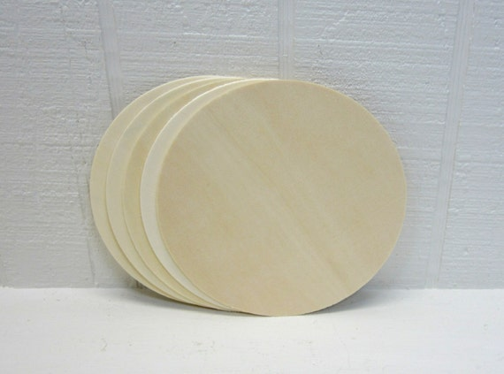 Wooden Circles 5 Inch Unfinished For Signs And Craft Projects Lot Of 5