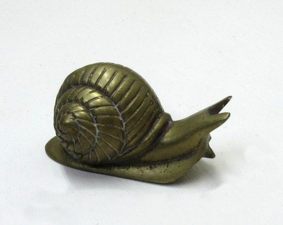 Vintage Brass Snail Figurine Interpur