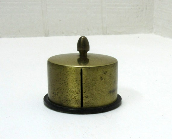 Vintage Brass Stamp Roll Holder/Dispenser PAT. PRODUCTS - USA