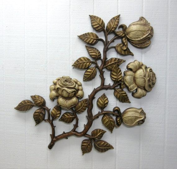 Vintage Sexton Wall Hanging Flowers Cast Aluminum