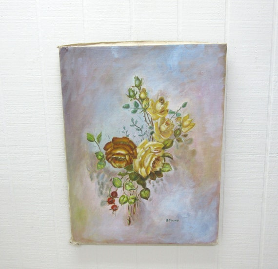 Vintage Oil On Canvas Painting S. Young Original Art