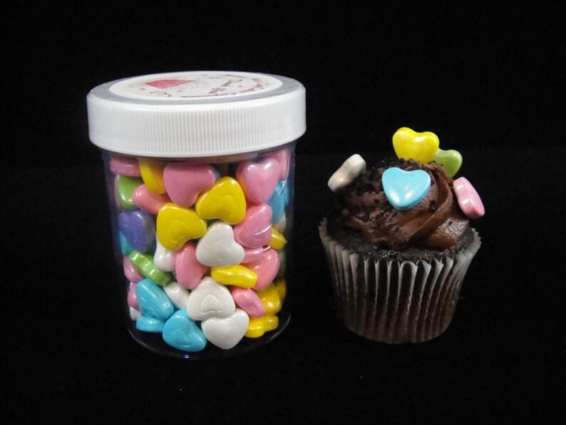 Pastel Shimmer Heart Sprinkles Cupcake Sprinkles Candy Etsy