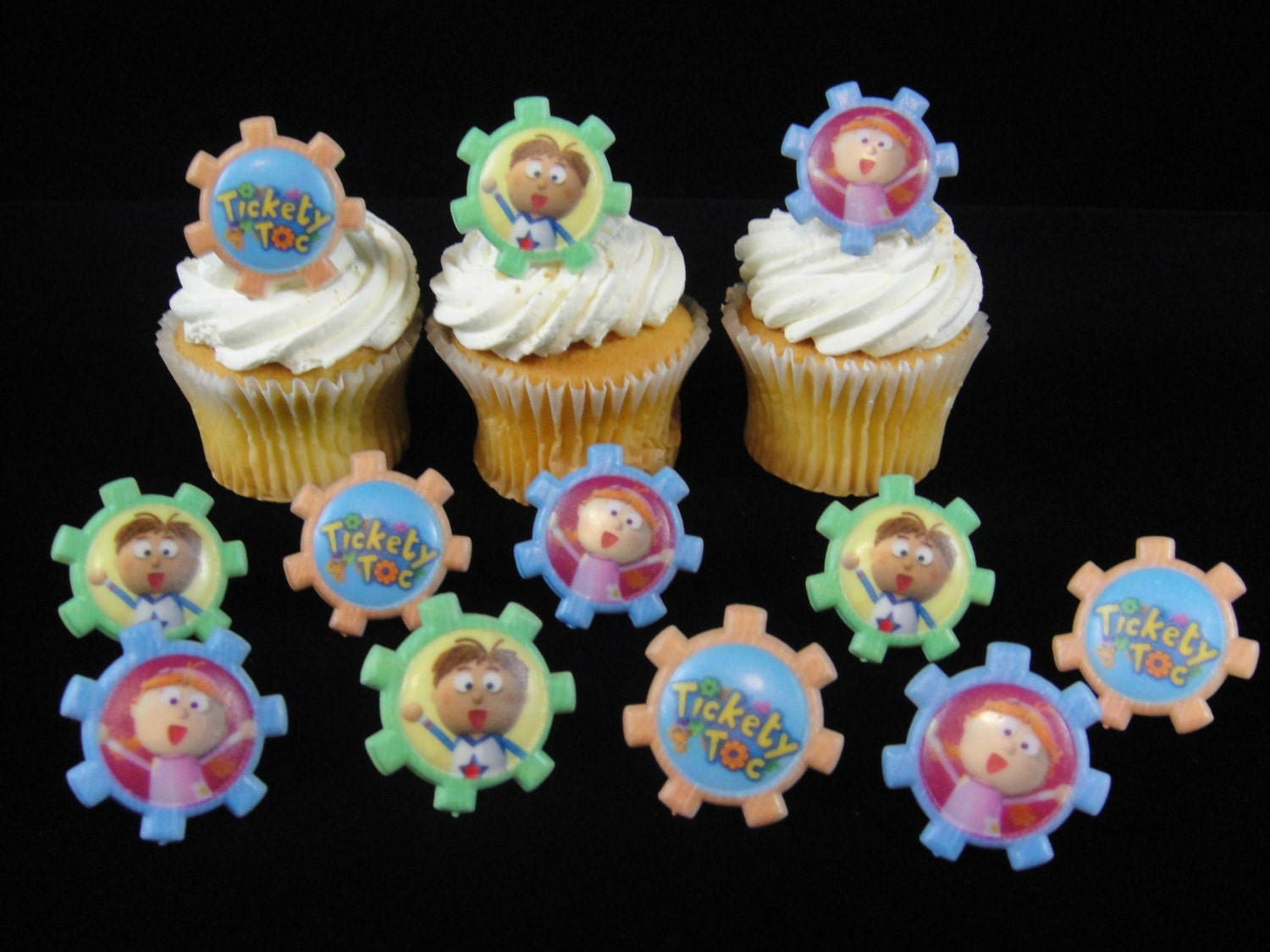 Tickety Toc Cupcake Rings Tickety Toc Party Tickety Toc Etsy