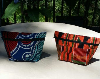 African wax print fabric bags