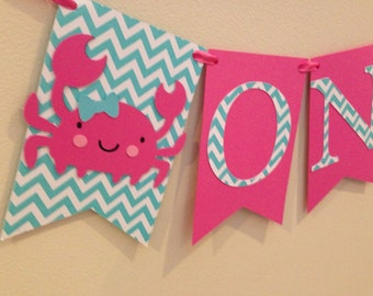 ONE banner, first birthday, ready to ship