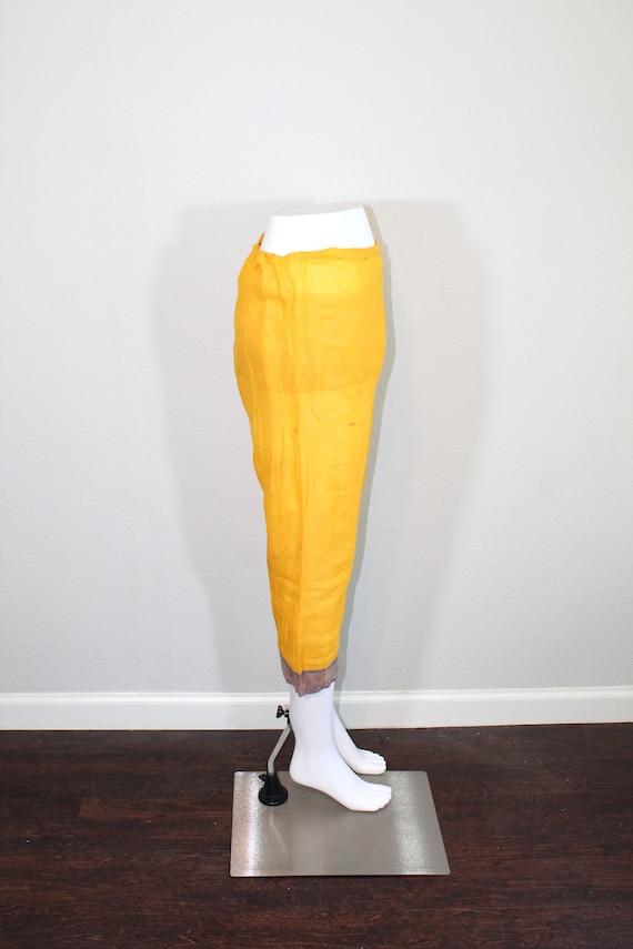 1930s Cotton Gauze Purple and Yellow Beach Pajama… - image 2