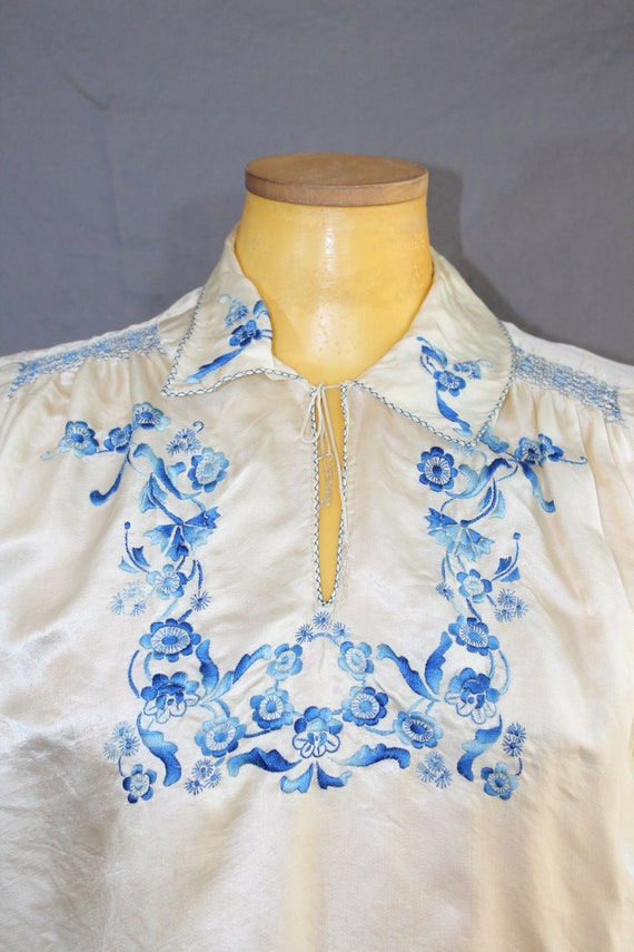 1930s Hungarian Floral Embroidered Folk Peasant B… - image 6