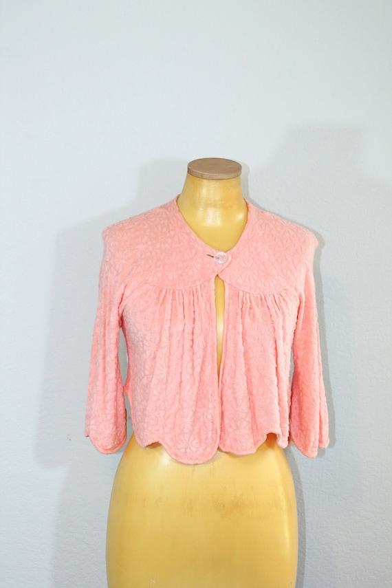 1940s Munsingwear Bed Jacket // Small