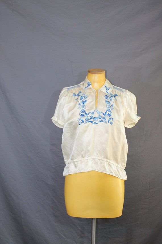 1930s Hungarian Floral Embroidered Folk Peasant B… - image 5