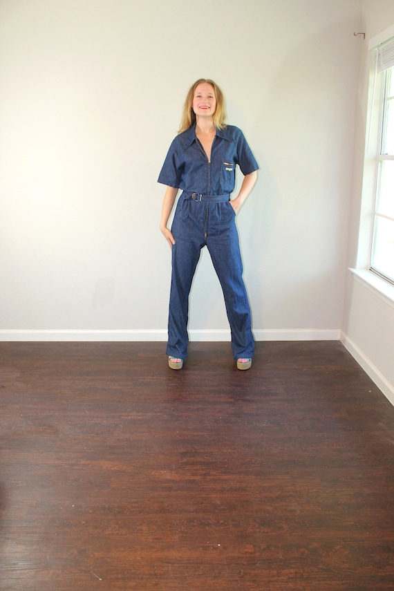 1970s Wrangler Denim Jumpsuit Coveralls // Medium