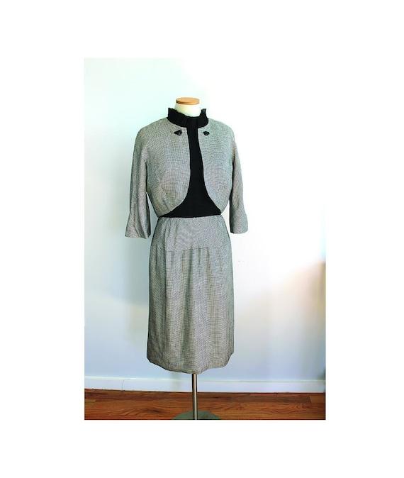 1950s Houndstooth Dress Suit // Andrew Arkin Petit