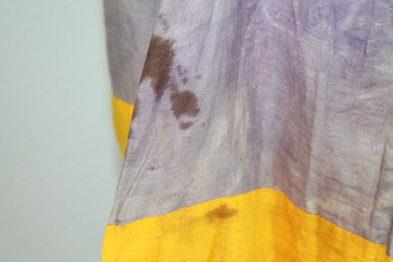1930s Cotton Gauze Purple and Yellow Beach Pajama… - image 10