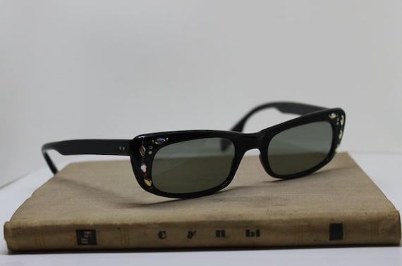 1950s Cat Eye Sunglasses with Rhinestones