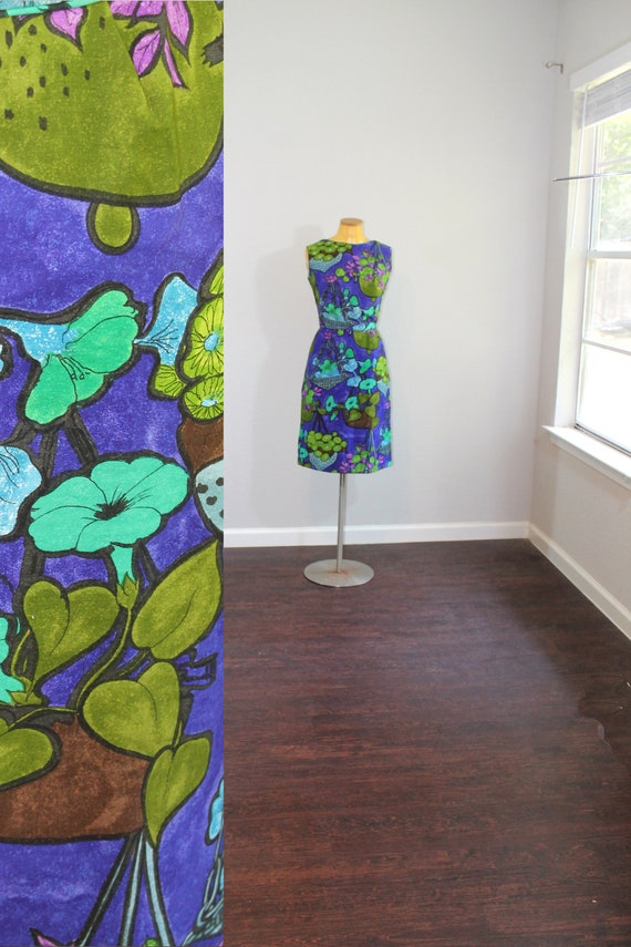1950s Hawaiian Dress Waltah Clark // Extra Small