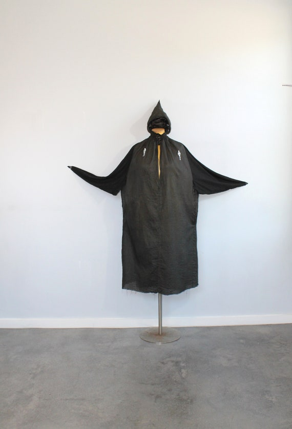 1920s Black Halloween Cape // Free Size