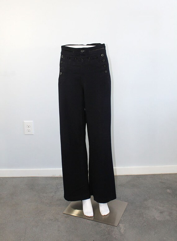 1940s Wool Sailor Pants // Men's Small - image 2