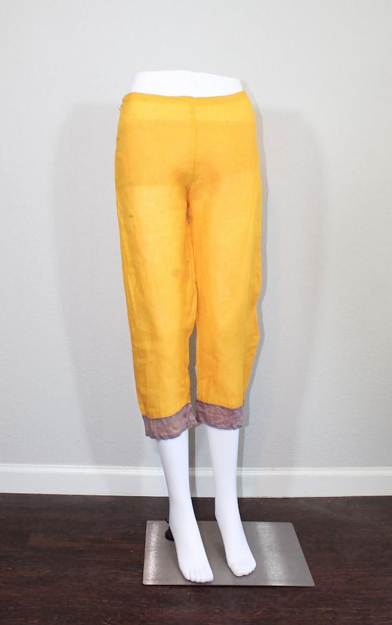 1930s Cotton Gauze Purple and Yellow Beach Pajama… - image 8