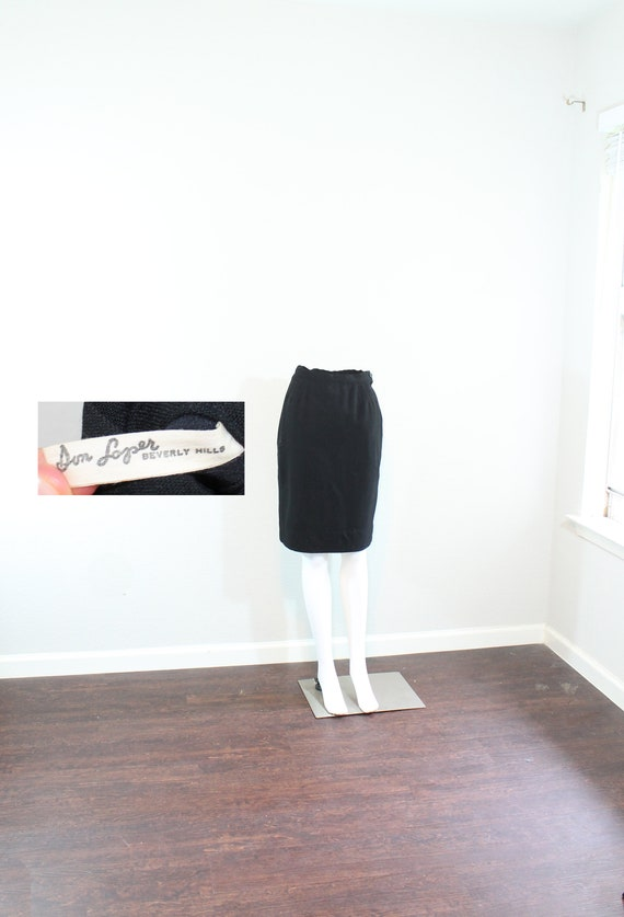 1950s Don Loper Wool Pencil Skirt // Extra Small