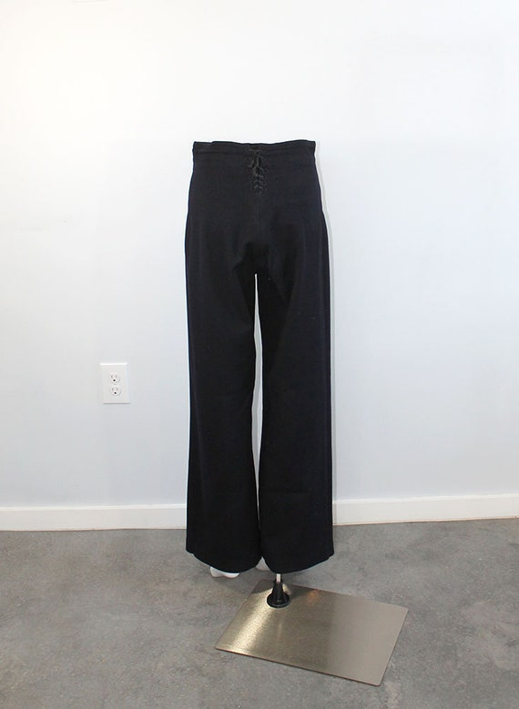 1940s Wool Sailor Pants // Men's Small - image 5