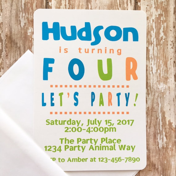 12 Boy Birthday Invitations Printed